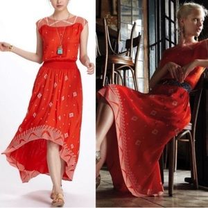 Like new Anthropologie Floreat High low dress 8